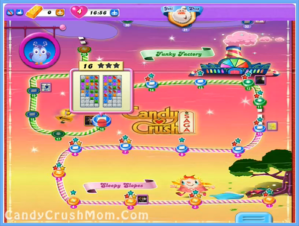 Candy Crush Dreamworld Level 16
