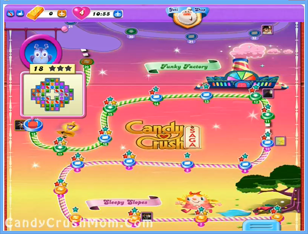 Candy Crush Dreamworld Level 18