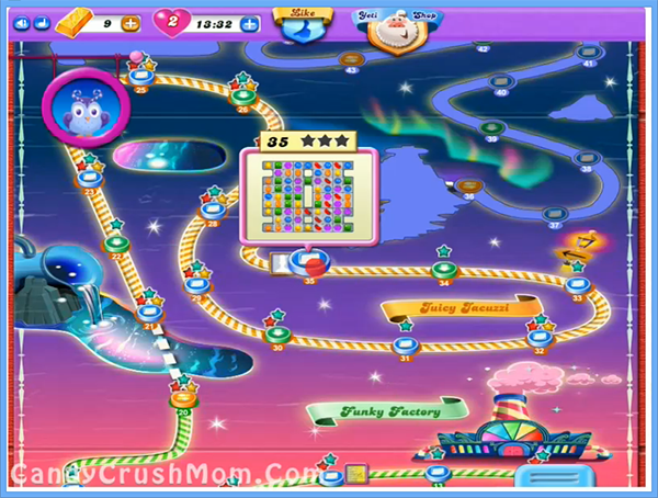 for Candy Crush Dreamworld Juicy Jacuzzi Episode: Level 21 – 35