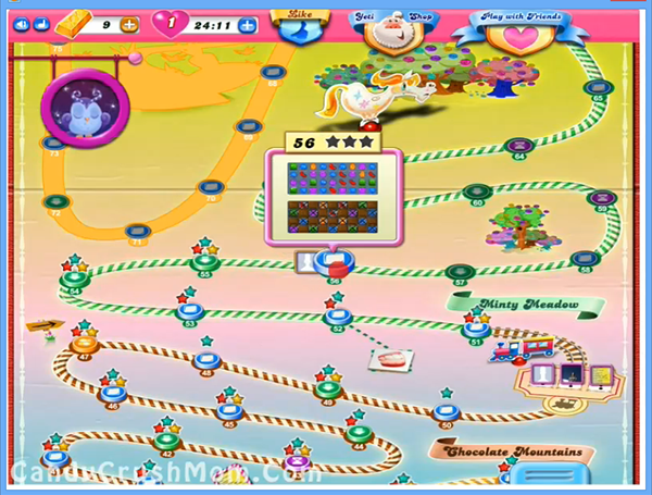 Tips and Walkthrough: Candy Crush Level 56