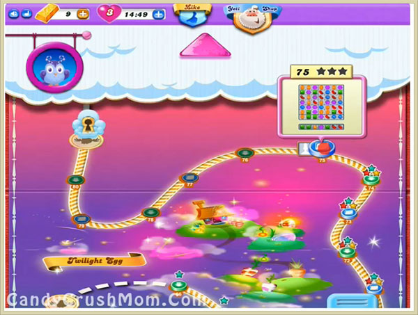 Tips and Walkthrough: Candy Crush Dreamworld Level 75