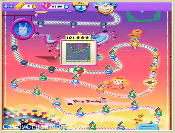 Candy Crush Dreamworld Level 101