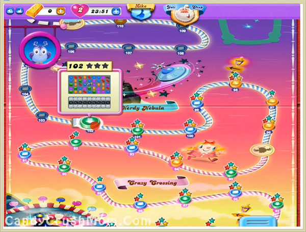 Candy Crush Dreamworld Level 102