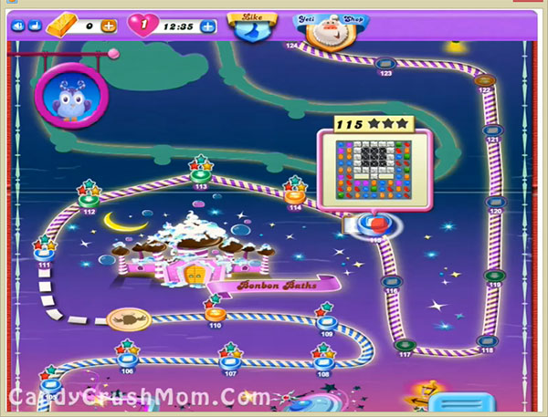 Candy Crush Dreamworld Level 115
