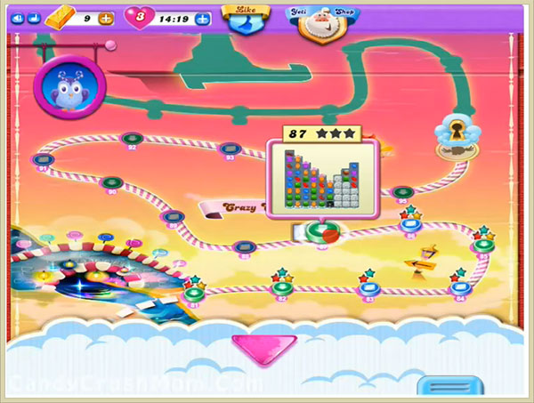 Candy Crush Dreamworld Level 87