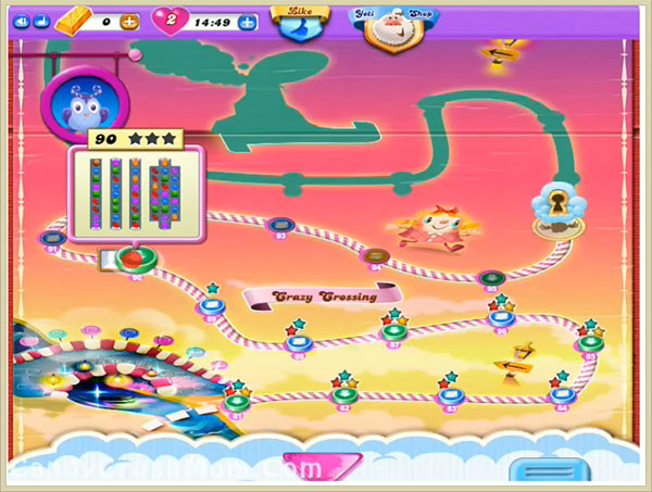 Candy Crush Dreamworld Level 90