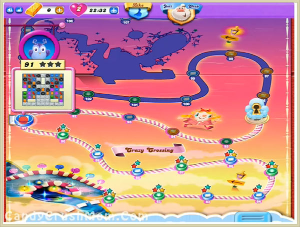 Candy Crush Dreamworld Level 91