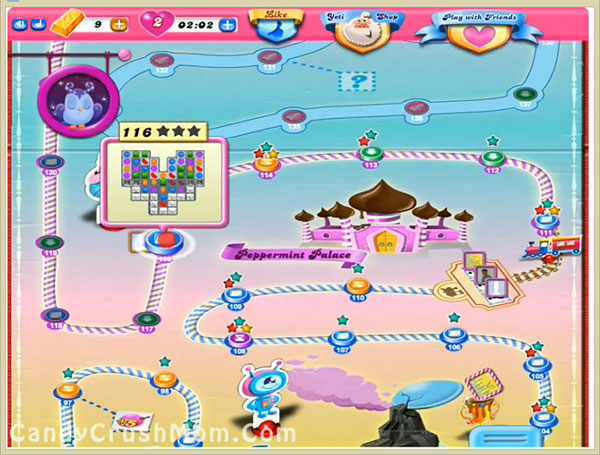 Tips and Walkthrough: Candy Crush Level 116