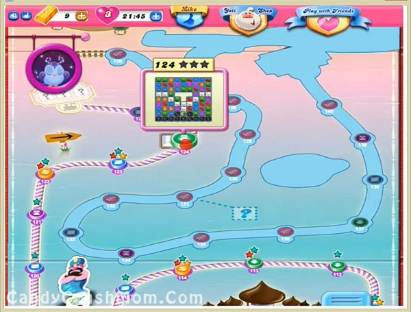Tips and Walkthrough: Candy Crush Level 124