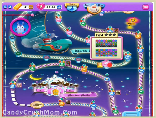 Candy Crush Dreamworld Level 134