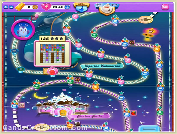 Candy Crush Dreamworld Level 136