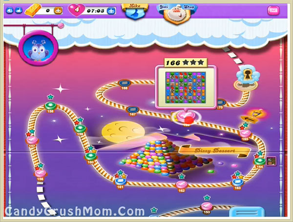 Candy Crush Dreamworld Level 166