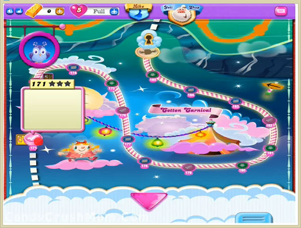 Candy Crush Dreamworld Level 171