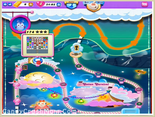 Candy Crush Dreamworld Level 174