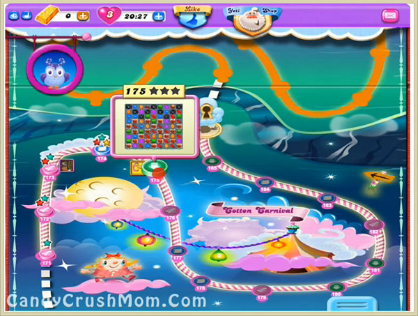 Candy Crush Dreamworld Level 175