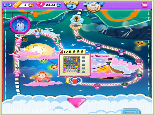 Candy Crush Dreamworld Level 178