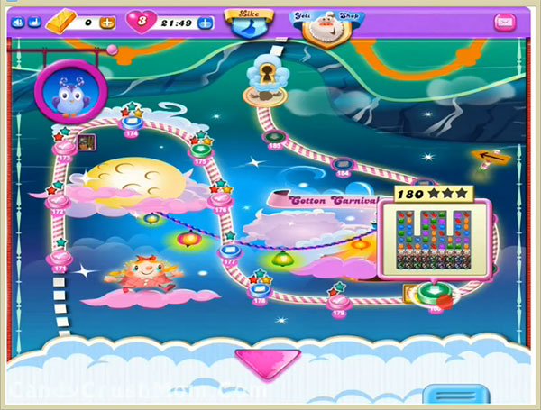 Candy Crush Dreamworld Level 180