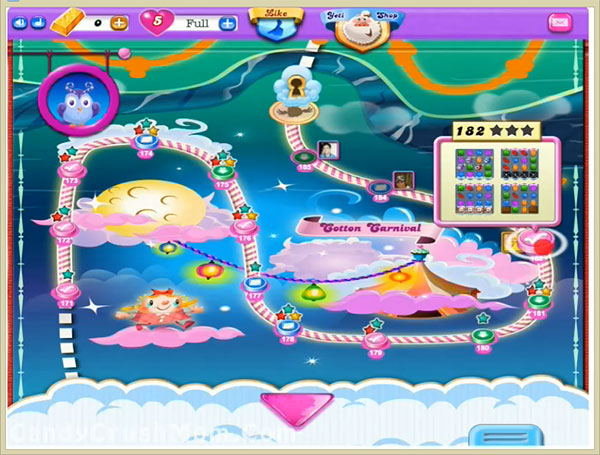 Candy Crush Dreamworld Level 182