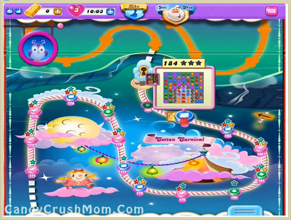 Candy Crush Dreamworld Level 184
