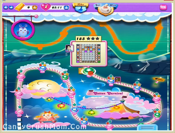 Candy Crush Dreamworld Level 185