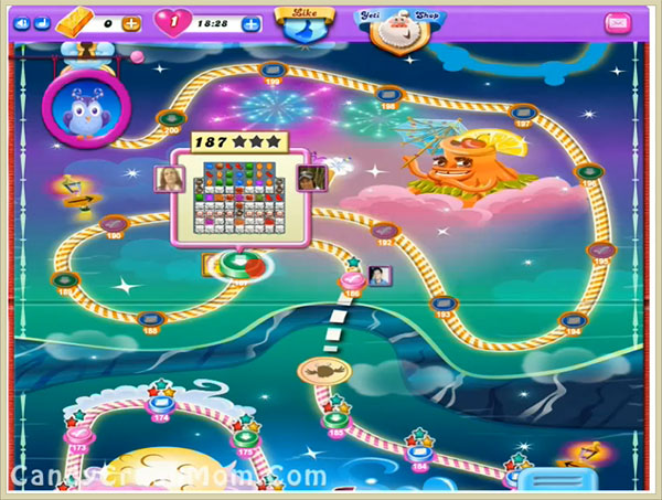 Candy Crush Dreamworld Level 187