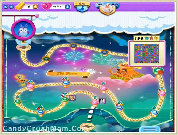 Candy Crush Dreamworld Level 196