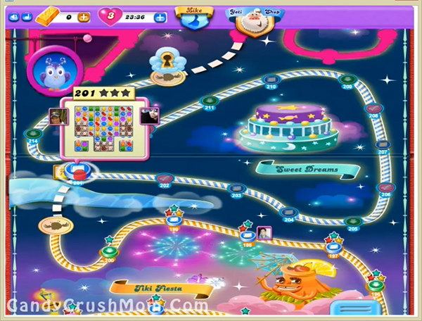 Candy Crush Dreamworld Level 201