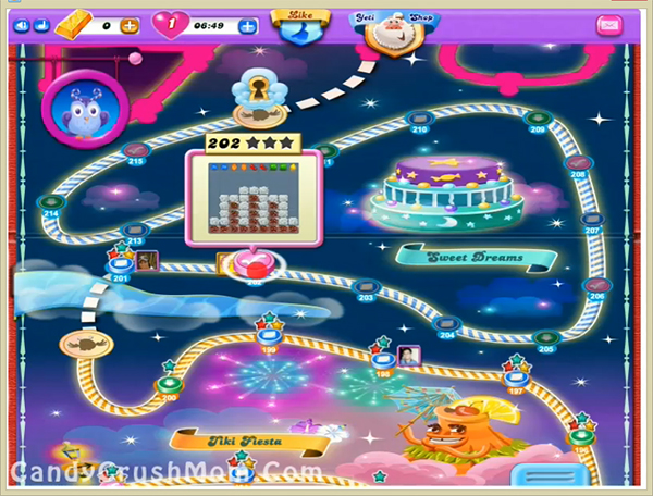 Candy Crush Dreamworld Level 202