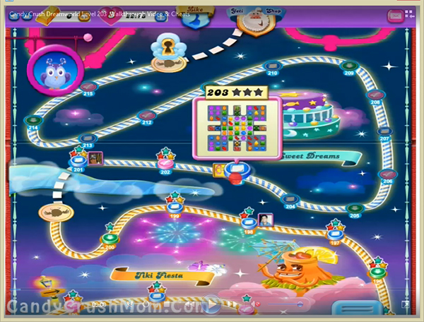 Candy Crush Dreamworld Level 203