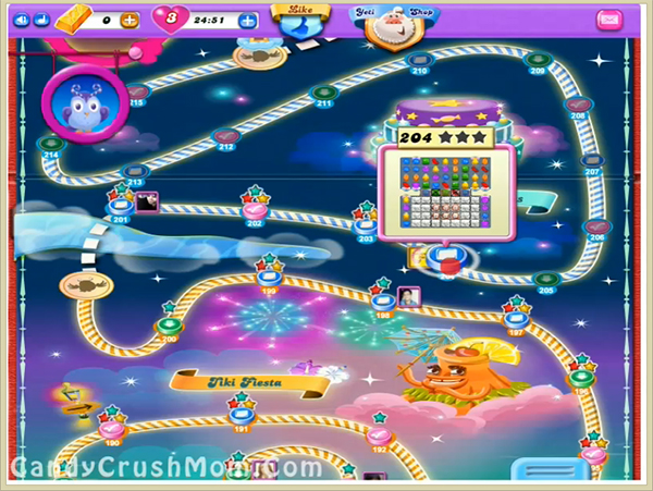 Candy Crush Dreamworld Level 204