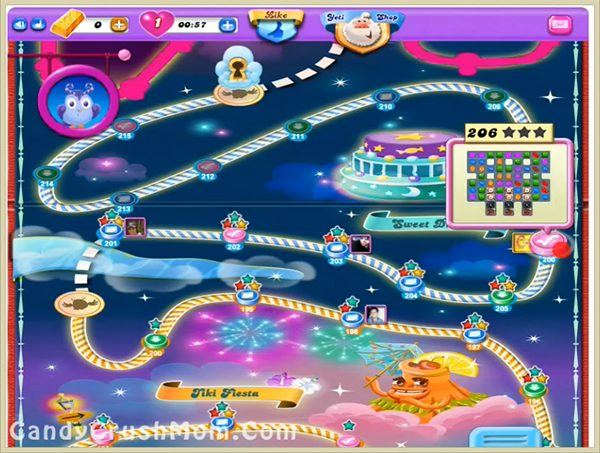 Candy Crush Dreamworld Level 206