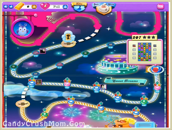 Candy Crush Dreamworld Level 207