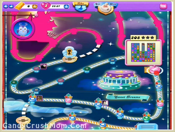Candy Crush Dreamworld Level 208