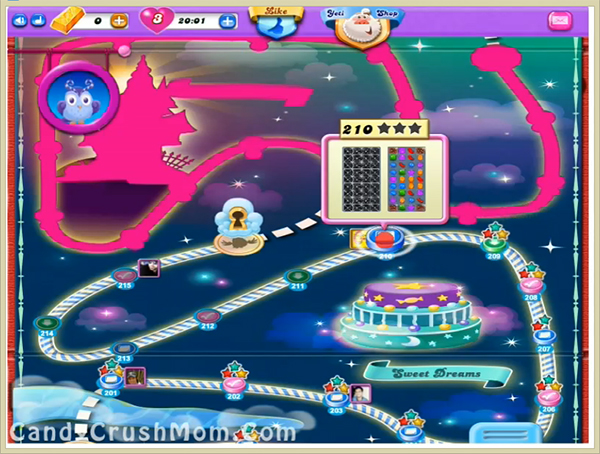 Candy Crush Dreamworld Level 210