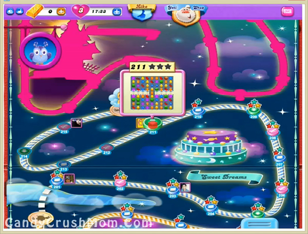 Candy Crush Dreamworld Level 211