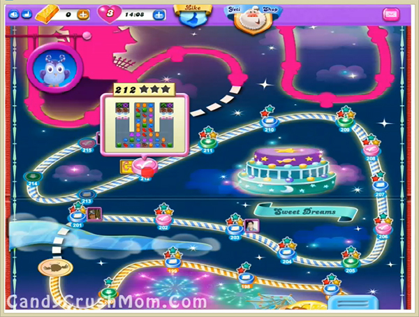 Candy Crush Dreamworld Level 212
