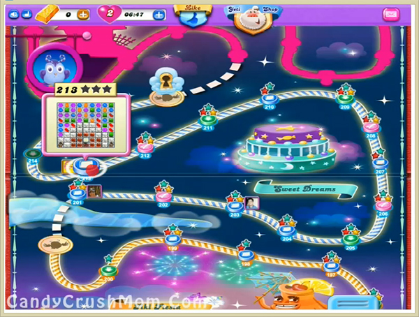 Candy Crush Dreamworld Level 213