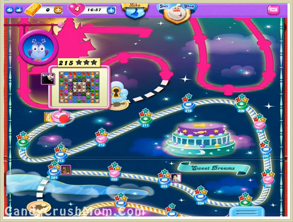 Candy Crush Dreamworld Level 215