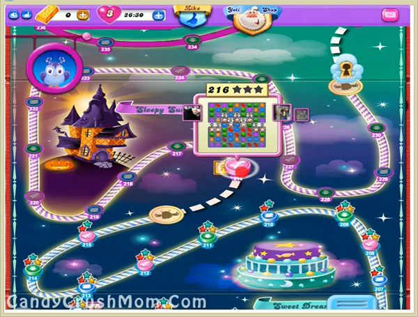 Candy Crush Dreamworld Level 216