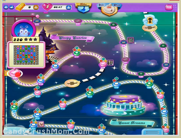 Candy Crush Dreamworld Level 220