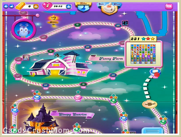 Candy Crush Dreamworld Level 231