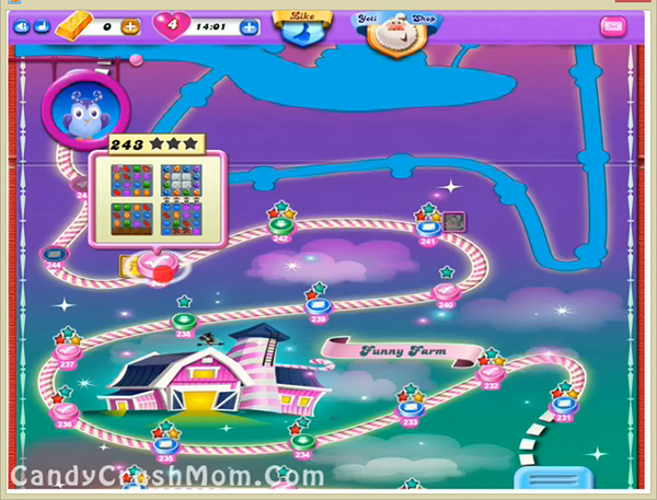 Candy Crush Dreamworld Level 243