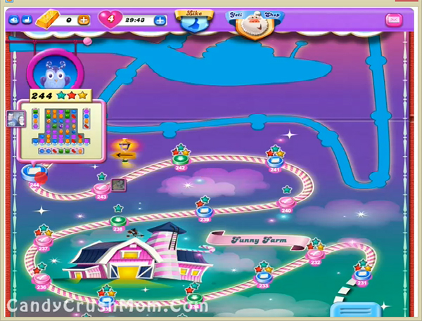 Candy Crush Dreamworld Level 244