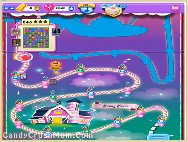 Candy Crush Dreamworld Level 245