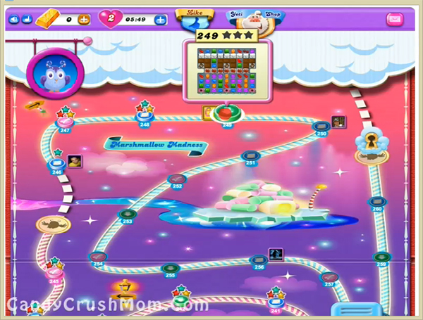 Candy Crush Dreamworld Level 249