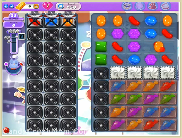 Candy Crush Dreamworld Level 250