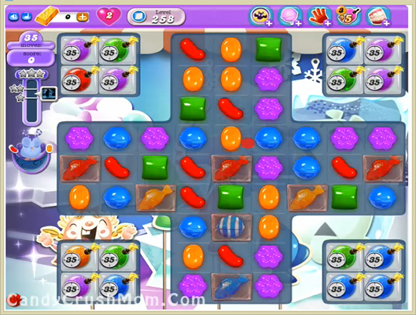 Candy Crush Dreamworld Level 258