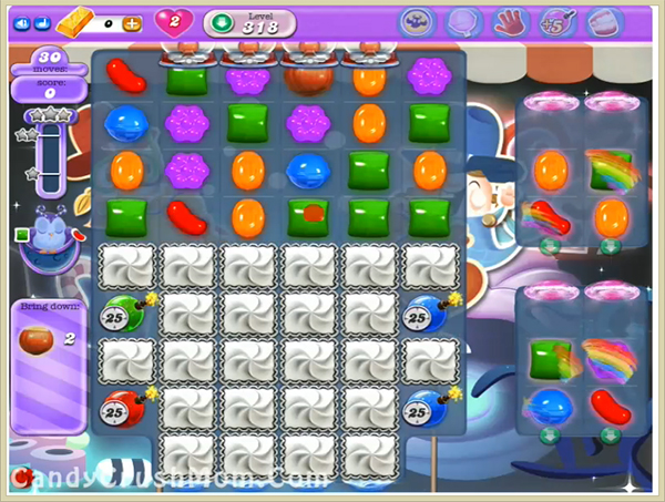 Candy Crush Dreamworld Level 318