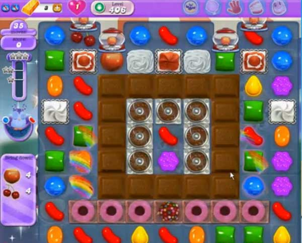 candy crush dreamworld level 406