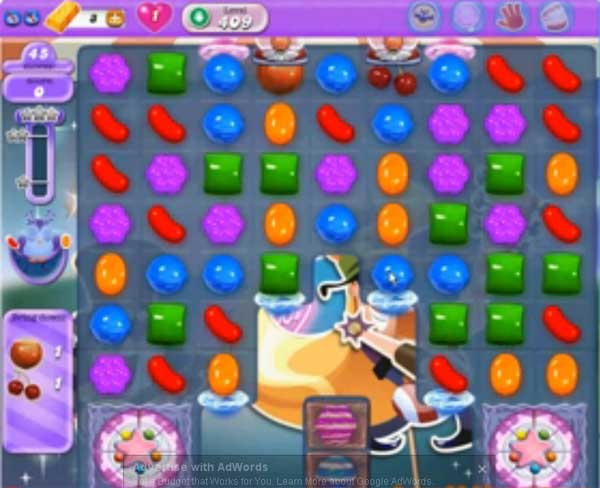 candy crush dreamworld level 409